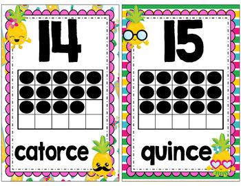 Pineapple Classroom Decor Part 2 (SPANISH)