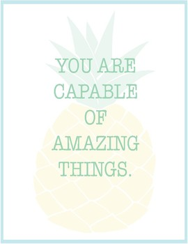 Pineapple Classroom Decor - Quote Posters