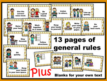 Rules for Pineapple Classroom Decor: Commonly Used & Editable Rule Posters