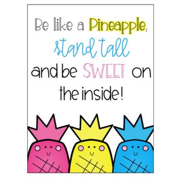 Pineapple Classroom Decor Set