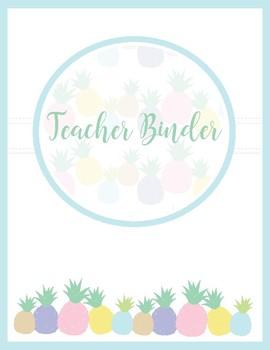 Pineapple Classroom Decor -  Teachers Binder