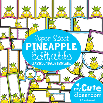 original-2706681-1 Teachers Welcome Letter Template Pinapple Theme on