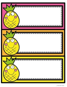 Pineapple Classroom Decor Templates {editable}