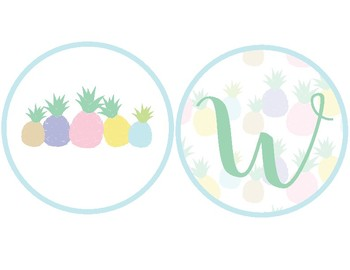 Pineapple Classroom Decor - Welcome Banner