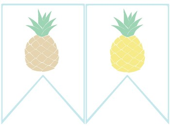 Pineapple Classroom Decor - Welcome Banner FREE