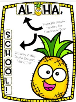 Pineapple Classroom Door Headers!
