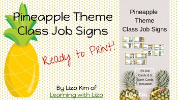 Pineapple Classroom Job Signs