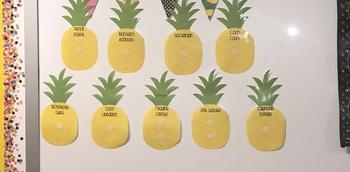 Pineapple Classroom Jobs: Sweet Helpers