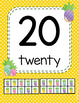 Classroom Decor Pineapple Classroom Number Posters 1-20