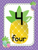 #roomdecor Pineapple Classroom Number Posters with Number Words