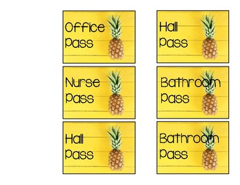Pineapple Classroom Passes