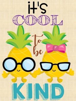 Pineapple Classroom Poster Set