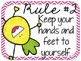 Pineapple Classroom Rules {Editable}