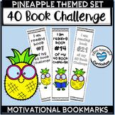 Pineapple Classroom Theme Bookmarks 40 Book Challenge