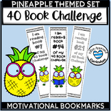 Pineapple Classroom Theme Bookmarks 40 Book Challenge