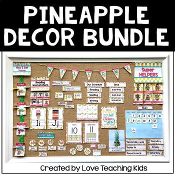 Pineapple Classroom Theme Bundle- Editable