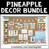 Pineapple Classroom Decor Bundle Editable