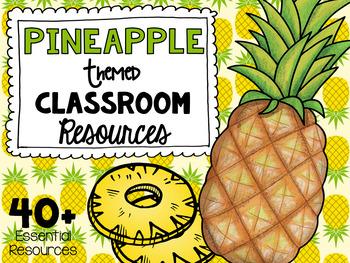Pineapple Classroom Theme Decor Pack