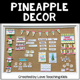 Pineapple Classroom Theme - Editable