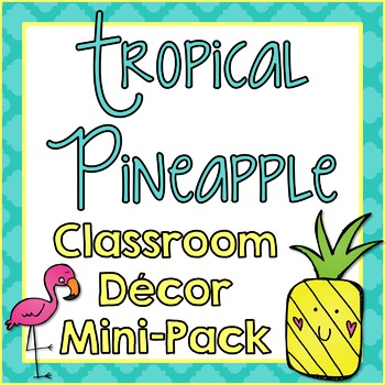 Pineapple Classroom Tropical Decor Pack