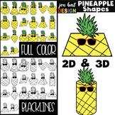 Pineapple Clip Art - Math 2D & 3D Shapes {jen hart Clip Art}