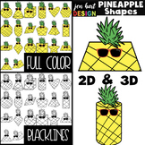 Pineapple Clip Art - Math 2D & 3D Shapes {jen hart Clip Art}