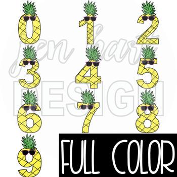 Pineapple Clip Art - Pineapple Numbers