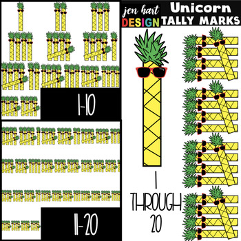 Pineapple Clip Art - Pineapple Tally Marks {jen hart Clip Art}