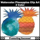 Pineapple Clip Art, Watercolor Clipart
