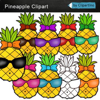 Pineapple Clipart: Summer clipart