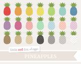 Pineapple Clipart; Fruit, Tropical, Summer