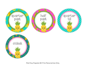 Pineapple Clock Number Labels