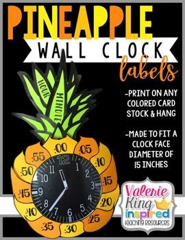 Pineapple Clock Number Labels