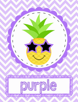 Pineapple Color Posters