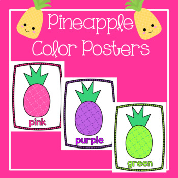 Pineapple Classroom Decor Color Posters