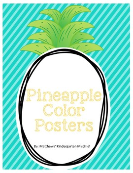 Pineapple Color Word Posters