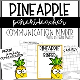 Pineapple Communication Binder - Editable