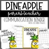 Pineapple Communication Binder - Editable