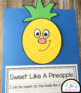 Pineapple Craft With Writing Prompts/Pages