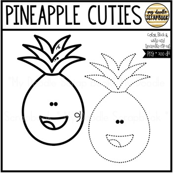Pineapple Cuties (Clip Art for Personal & Commercial Use)
