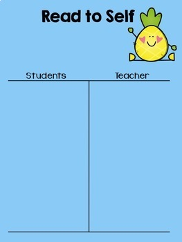 Pineapple Daily 5 I Chart {Editable}
