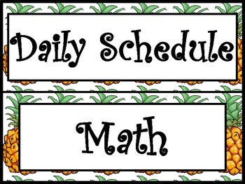 Pineapple Daily Schedule