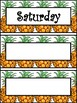 Pineapple Days Of the Week cards