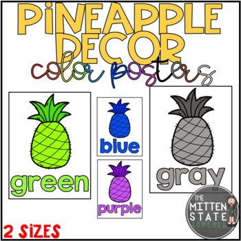 Pineapple Decor: Color Posters