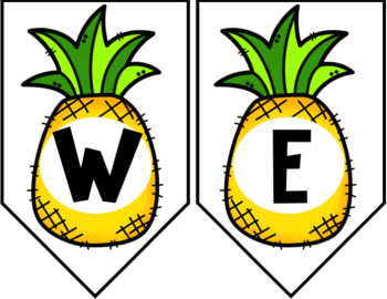 Pineapple Decor: Free Welcome Banners