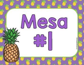 Pineapple Decor in Spanish (Decoraciones del salon Piña)