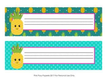Pineapple Desk Name Plates Classroom Decor