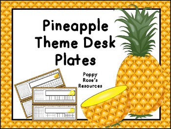 Pineapple Desk Plates