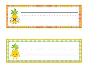Pineapple Desk Plates | Pineapple Desk | Pineapple Name Plates