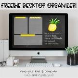 Pineapple Desktop Organization Wallpaper (FREEBIE!)